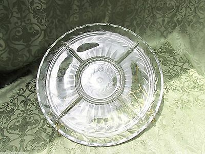 Indiania Glass Relish Serving Dish Laurel #1010 Pattern Clear 1940s Depression