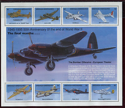 Grenada Grenadines 1995 50th anniversary of the end of WWII souvenir sheet MNH