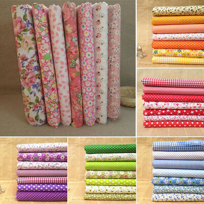 IK- Series 7 Assorted Floral Pre-Cut Fat Quarters Bundle Charm Cotton Fabric Gra