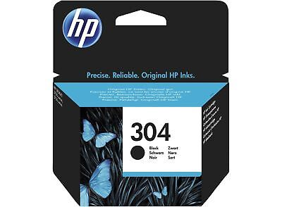 HP 304 Black Genuine Original Ink Cartridge for HP Deskjet 2630 Printers