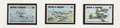 Barbuda 1994 complete air mail set MNH **, WWII planes, good thematic