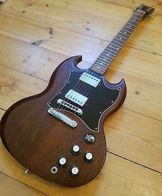 2010 USA Gibson SG Special, Worn Brown, Seymour Duncan Antiquity Humbuckers
