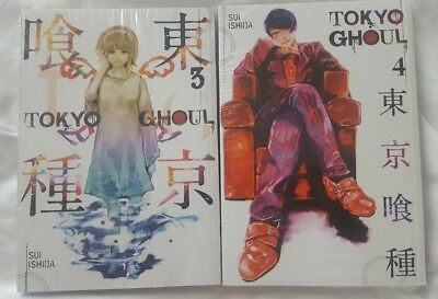 Tokyo Ghoul Volume 3 and 4 Collection Set (Paperback) BRAND NEW, Manga
