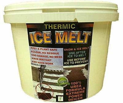 THERMIC SNOW and ICE MELT- Child and Pet Safe, non corrosive, no damage, no mess