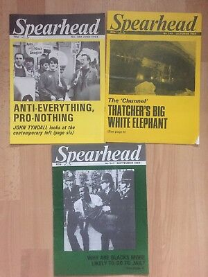 3 X Spearhead Mags No 247 248 304 BNP national Front NF British National Party