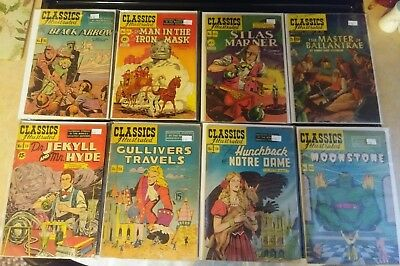 CLASSICS  ILLUSTRATED COMICS LOT OF 8 #13-82. 2 first editions. Nice. No reserve