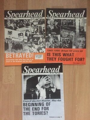 3 X Spearhead Mags No 308 315 316 BNP national Front NF British National Party