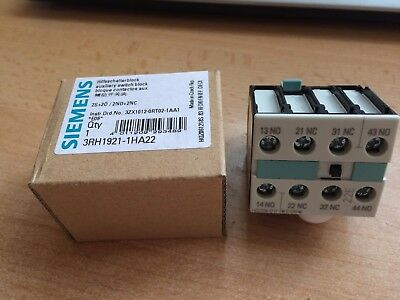 Snap Front Auxiliary Contact  2NO/2NC Siemens 3RH1921-1HA22 £7.50 Z1755