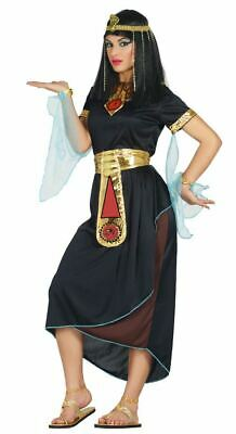 Womens Ladies Black Queen Cleopatra Ancient Egyptian Fancy Dress Costume Outfit