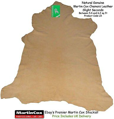 Genuine Martin Cox Chamois Leather Slight Seconds Large 5.4 - 6.2 sq ft