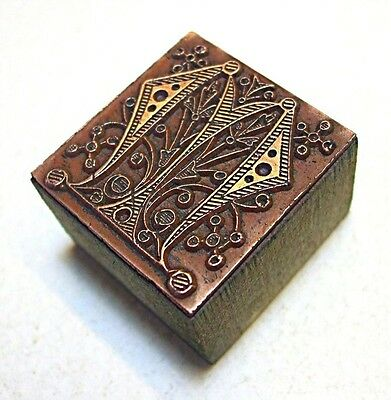 """arts And Crafts"" Letter ""m"" Printing Block."