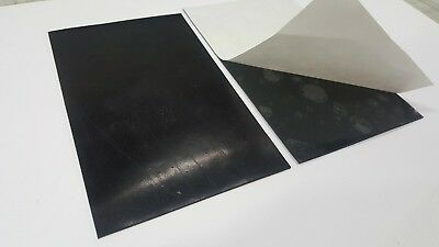 """NEOPRENE RUBBER SHEET ADHESIVE ONE SIDE 1/8 X 3"""" x 4"""" WIDE FREE SHIPPING"""