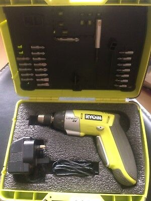 Ryobi 4V Li-Power Screwdriver With Accessories In Padded Box