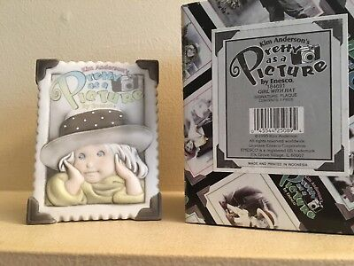 Pretty As A Picture Signature Plaque Store Display Exclusive Girl with a Hat