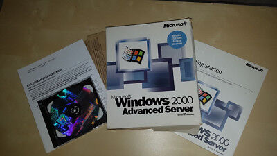 Windows 2000 Advanced Server mit 25 Clients Vollversion, englisch SKU: C10-00030