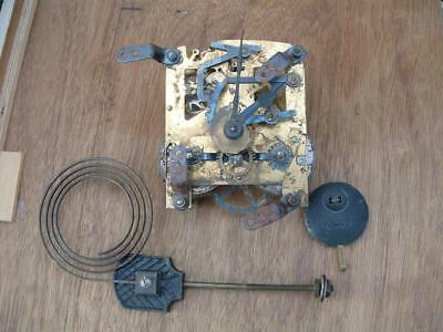 vintage Enfield striking clock movement/ gong / pendulum. for spares or repairs