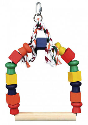 Trixie Bright Colourful Wooden Arch Swing