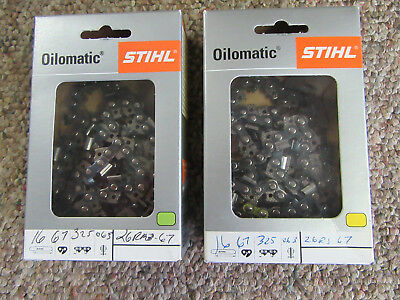 (2) Stihl Oilmatic Chains 16""