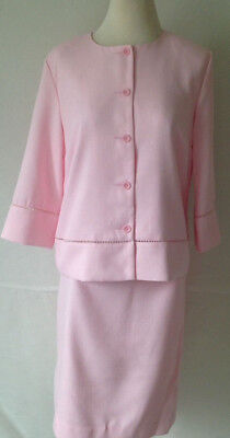 Drapers & Damons Skirt Suit Set Mother of Bride Formal Set Pink New NWT $149