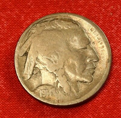 1914-S Buffalo Nickel F Full Date Collector Coin Gift Check Other Sales Bn374