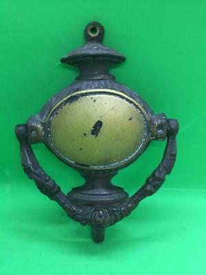 Vintage Reclaimed Brass Door Knocker 6""