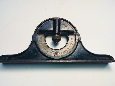 Brown and Sharpe protractor with rotating head