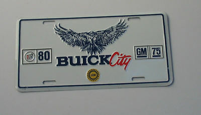 Buick City license plate from 1983 celebrating GM 75 years Buick 80 years