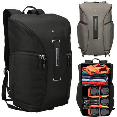 Men's Large Travel Backpack Rucksack DSLR SLR Camera Bag Lens Padded Bag Daypack