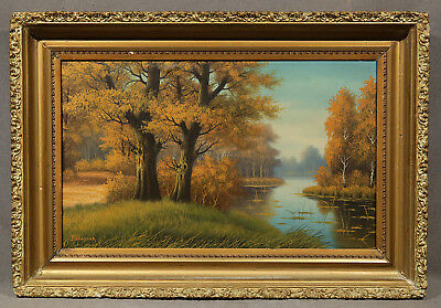 "Early 20th Century American Landscape Oil Painting signed ""Banaszak"""
