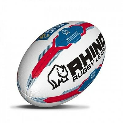 16.75  NEW 2017 Rhino Super League repilica Rugby Ball Size 5   FREEPOST