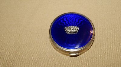 Silver & Blue Gieves of London ( Compact / Mirror )