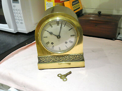 19th century antique french clock with brass case
