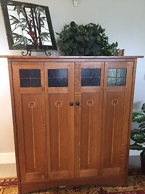 Stickley Harvey Ellis Entertainment Center - Mission Oak Fayettville