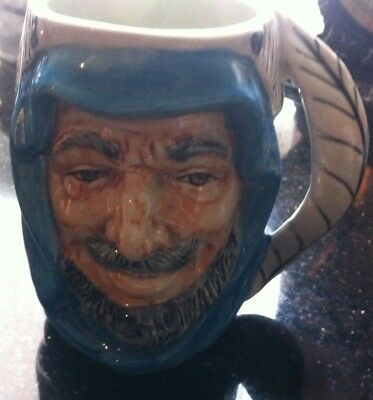 SHEIK CHARACTER JUG MADE BY SHORTER APPROX 13cm IN HEIGHT AND BLUE HEAD PIECE
