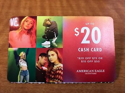 American Eagle AEO $20 Off $75 or $10 Off $50 Coupon Exp 12/16/17