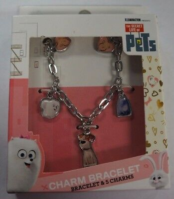 Girls The Secret Of Life Pets Charm Bracelet with 5 Charms