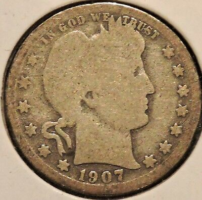 Barber Quarter - 1907-O - Historic Silver! - $1 Unlimited Shipping.