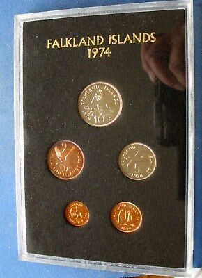 Falkland Islands 1974 Proof set. With case and box