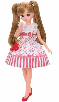 Takara TOMY Licca Doll Rika chan Doll Dress LW-03 Cherry Berry from Japan