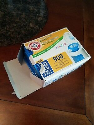 Munchkin Arm and Hammer Diaper Pail Snap Seal Toss Refill Bags, 26 of 30 Bags