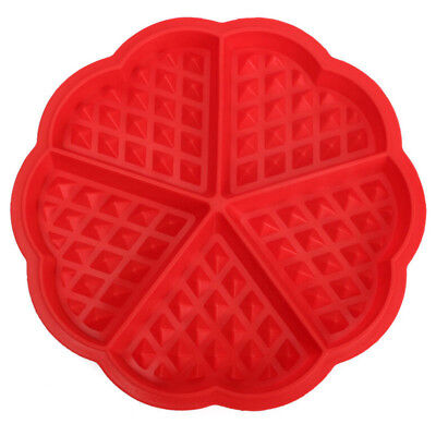 Family Silicone Waffle Mold Maker Pan Microwave Baking Cookie Cake Muffin W4X6