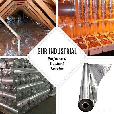1000 Sq Ft GHR Industrial Perforated Radiant Barrier Reflective Foil Insulation
