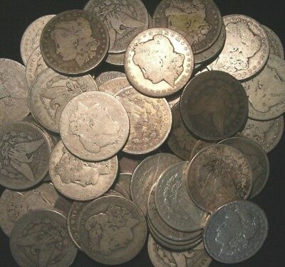 Morgan Silver Dollars US Coin Lot, CULL UGLY LOW GRADE, Choose How Many!