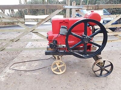 Ruston Hornsby 9 PB 4.5 HP vintage classic petrol stationary engine on Trolley