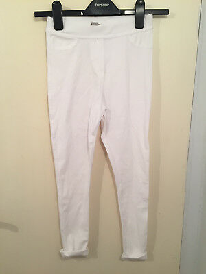 River Island white jeggings age 9-10 years