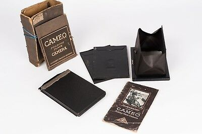 "Butcher Junior Cameo folding plate camera  1/4"" - Plates, instructions and box"