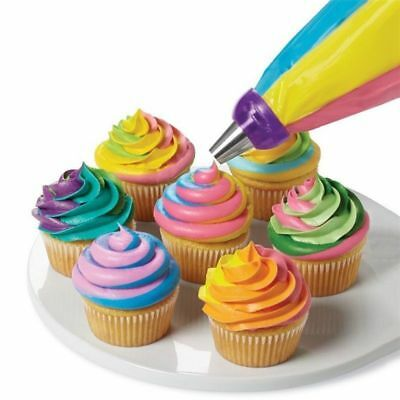 Cake Decor Tools 3-Color Icing Piping Cream Pastry Bag Nozzle Converter Hot PL82