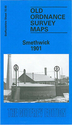 Old Ordnance Survey Map Smethwick 1901 Uplands Victoria Soho Birmingham