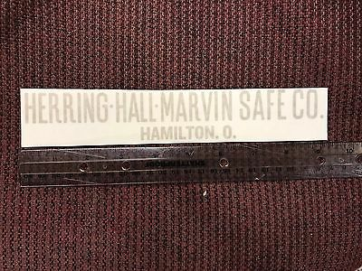 Herring Hall- Marvin Safe Co. Lettering