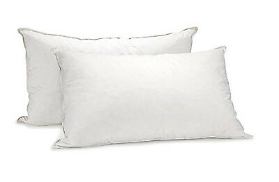 Royal Comfort Luxury 1000 GSM Duck Feather & Down Pillow Twin Pack Home Set